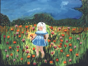 """Young Girl in Garden"" by Gennie Darisme"
