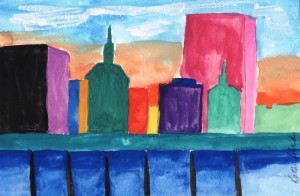 """City 1"" by Kathy Bird"