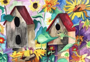 """Bird House Series 4""  By Kathy Bird"