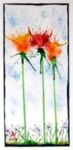 Splashy Flowers by Paul Norris