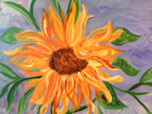 Sunflowers In The Wind by Joann Abdelwahbe