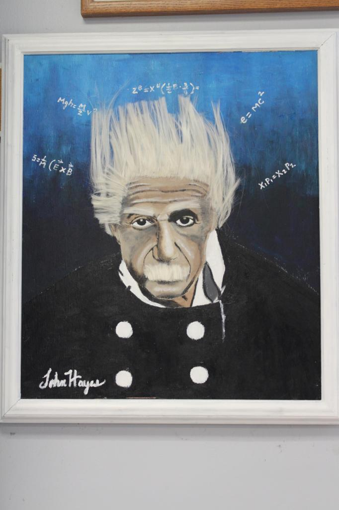 Einstein on a Bad Hair Day by John Hayes
