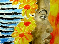 Woman with Flowers by Dolores Frails.jpg